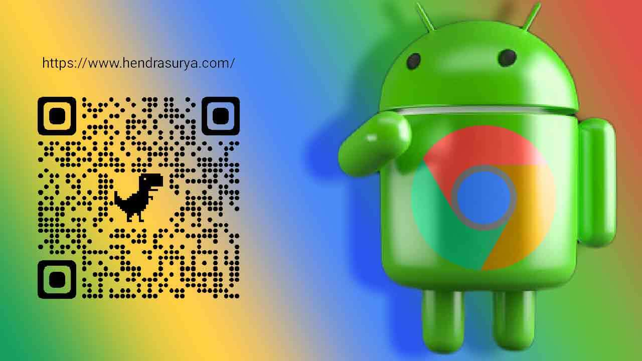 Menampilkan Share QR Code URL di Google Chrome Android