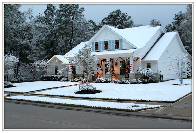 Southern Living-Texas Snow 20017-Farmhouse-Christmas-Winter Wonderland-Christmas Card-From My Front Porch To Yours