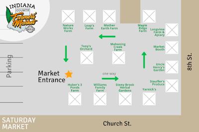 Saturday Market Vendor Map