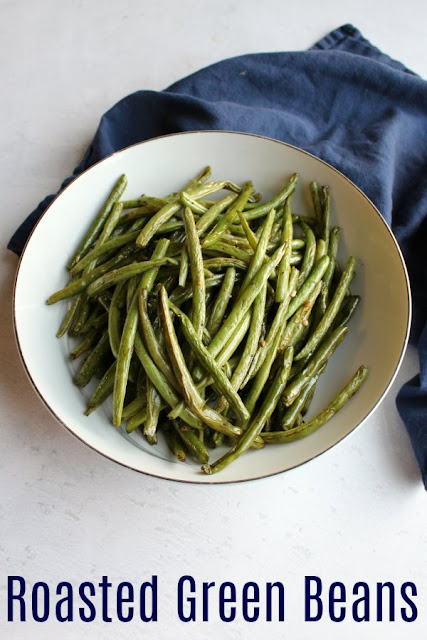 Fresh green beans are cooked to tender crisp deliciousness quickly when they are roasted. This simple recipe gets a healthy side dish on the table quick and easily.