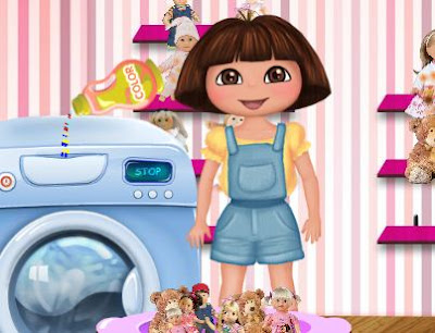 Dora Washing Dolls game