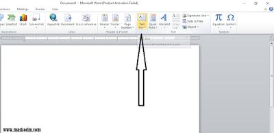 Cara Membuat Text Box Pada Microsoft Word, keguaan text box, cara membuat text box, tutorial membuat text box, tutorial microsoft word, belajar microsoft word