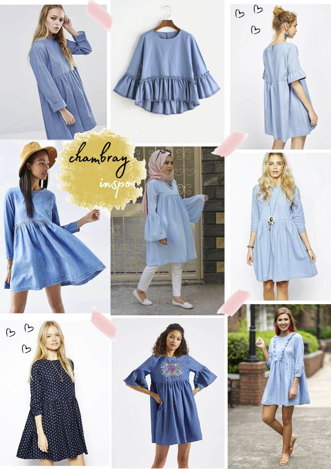 Inspiration for making the Indigo smock by Tilly and the Buttons