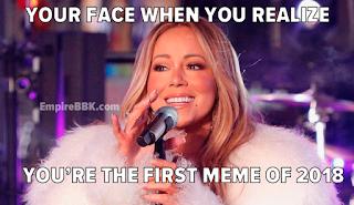 Mariah Carey Hot Tea New Years Meme