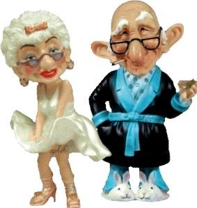 Foto de graciosos ancianos de cerámica