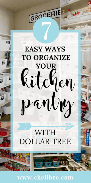 Pantry Organization | Organize your pantry with just one trip to the dollar store! Declutter your kitchen pantry on a small budget. These ideas will make you realize just how much space you have. Dollar Tree | organization products | pantries | kitchens | organized pantry | pantry storage | kitchen pantry organization | pantry organization ideas | kitchen pantry organization cabinets