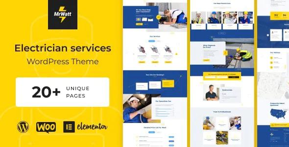 Best Electrician Services WordPress Theme