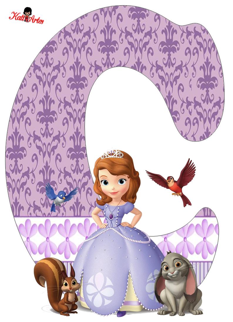 Alfabeto de Princesa Sofía.   Oh my Alfabetos!