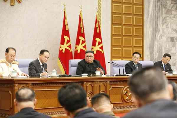 Kim Jong Un at WPK CC Plenum, February, 2021