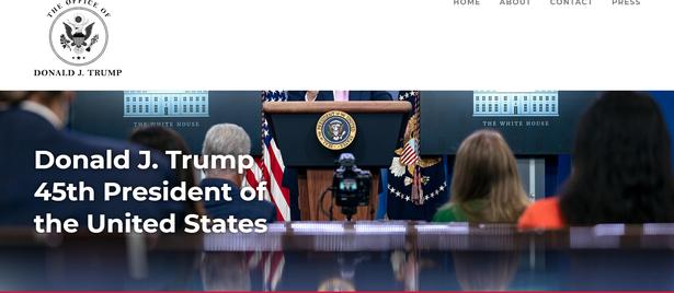 Trump lanza oficialmente su sitio web para mantenerse en contacto con partidarios