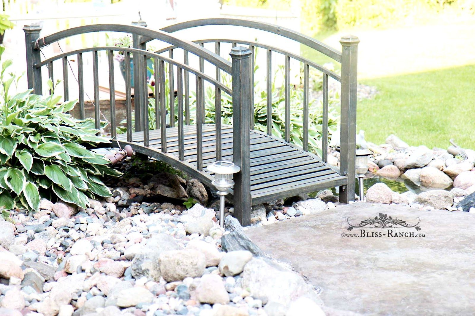 Bliss Ranch Powder Coated Steel Pond Bridge From A