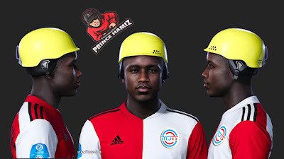 PES 2021 Faces Luis Siniterra with Safety Helmet by Prince Hamiz
