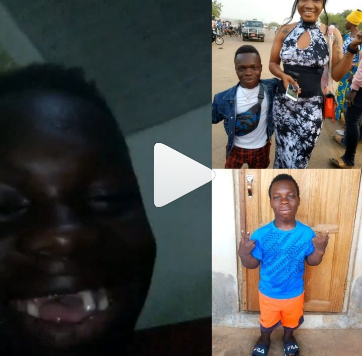 Dwarf Ghanaian Big Boy Kissing His Tall Girlfriend In Bed