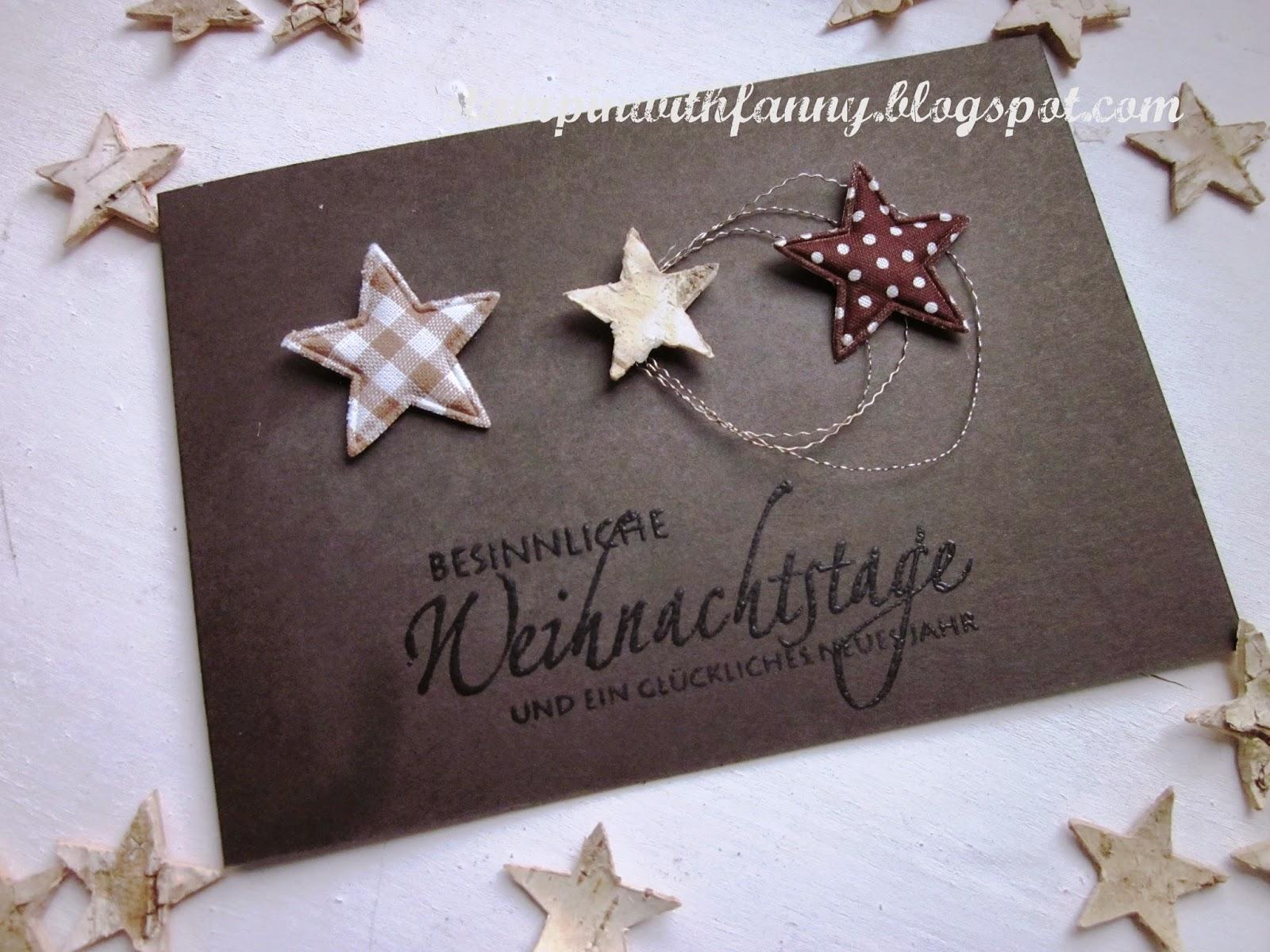 stampin with fanny schnelle weihnachtskarte wei e adventsdeko. Black Bedroom Furniture Sets. Home Design Ideas