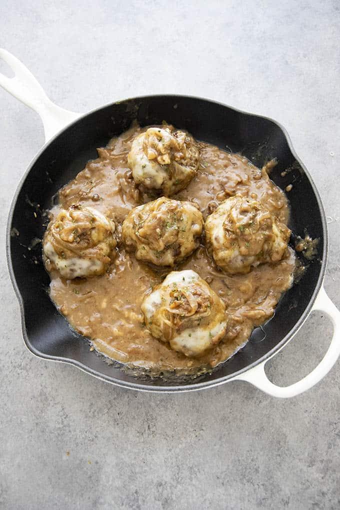 ★★★★★   French Onion Salisbury Steak