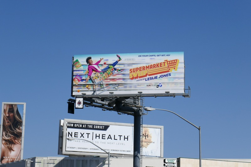 Supermarket Sweep Leslie Jones billboard