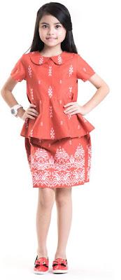 Model Baju Batik Anak Perempuan Pink