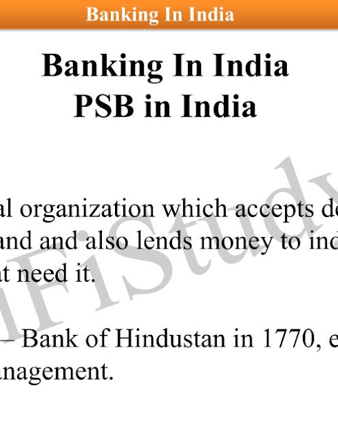 Banking in India General Knowledge : for all Competitive Exams