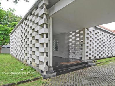 Pagar Rumah Beton  Desain Denah Rumah Terbaru  Denah