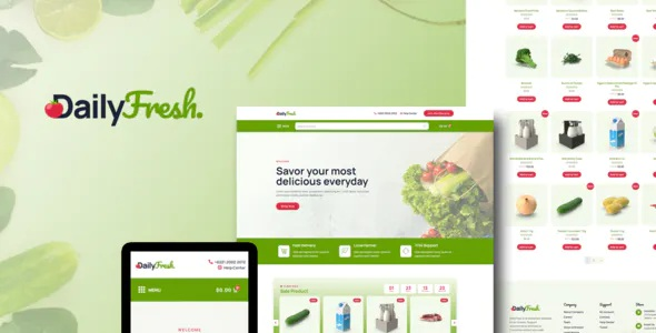 Best Grocery Store Elementor Template Kit