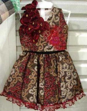 Model Baju Batik Anak Perempuan Modern
