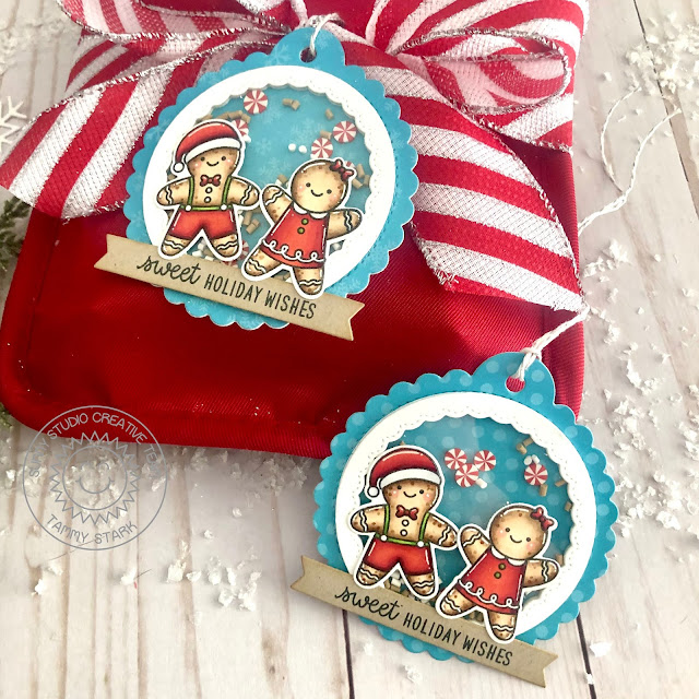 Sunny Studio Stamps: Christmas Cookies Scalloped Tag Dies Fancy Frame Dies Christmas Holiday Gift Tags by Tammy Stark