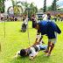 Rekontruksi pembunuhan anak dibawah umur di Kecamatan Panti, Yang dilaksanakn di Halaman Mapolres Pasaman.