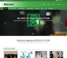 <b>Template Rizka Store Premium Blogger</b> <p>Rp.100.000</p>
