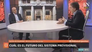 """Nicolás Dujovne: """"Ingresos brutos es un impuesto que deja a la Argentina fuera de juego"""""""