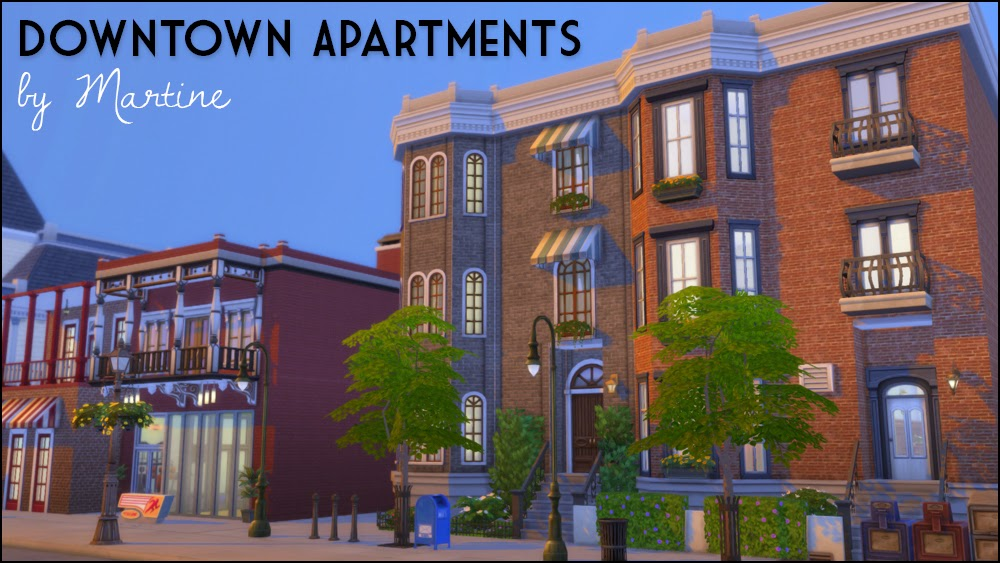 My Sims 4 Blog: Downtown Apartments by Martine
