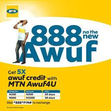 MTN Awuf4u, Get 5x Bonus On Every Recharge You Make
