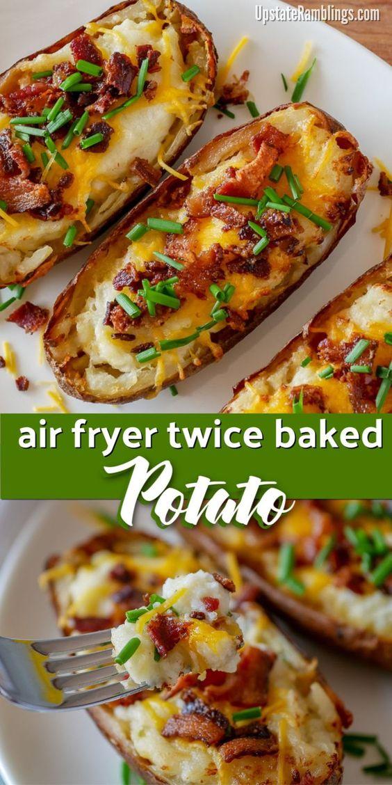 Air Fryer Twice Baked Potatoes