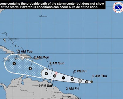 rmenta tropical Gonzalo se fortalece con vientos máximos sostenidos de 100 kilómetros por horas