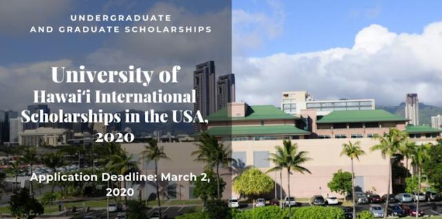 منح  ممولة لدراسة البكالوريوس والماجستير والدكتوراه  في جامعة هاواي الدولية في الولايات المتحدة الأمريكية ، 2020