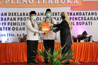 Rapat Pleno KPU Ogan Ilir Hasilkan Nomor Urut Satu Panca-Ardani, Nomor Urut Dua IPA-EPU
