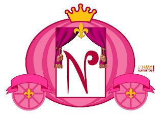 Abc in Princess Carriage. Letras en Carruaje de Princesa.