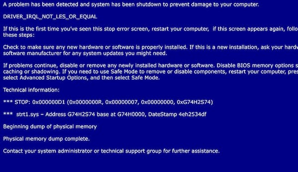 حلول مشكلة ظهور الشاشة الزرقاء وما هي الأسباب التي تؤدي إليها
