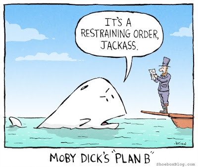 Meme de humor sobre Moby Dick