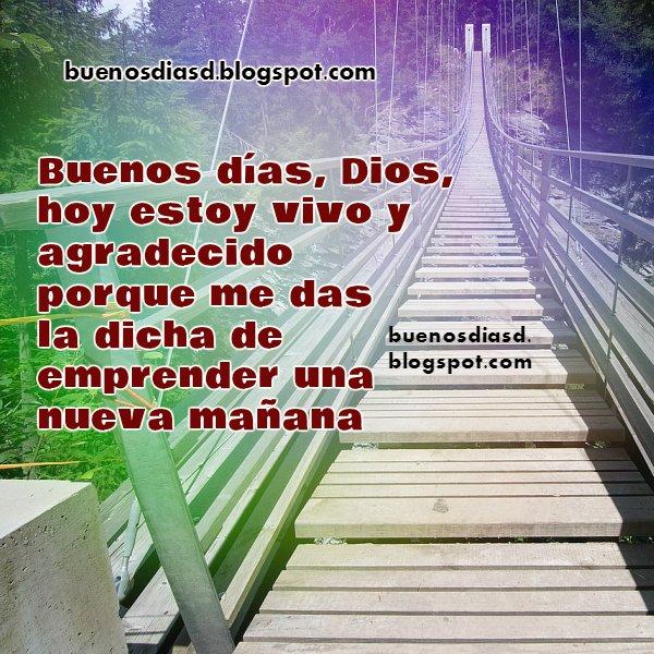 oración corta para Dios, buenos días