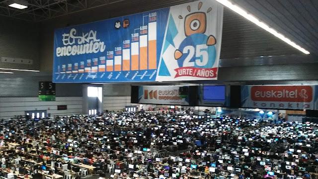 La Euskal Encounter cumple 25 años con 5.024 ordenadores navegando desde BEC!