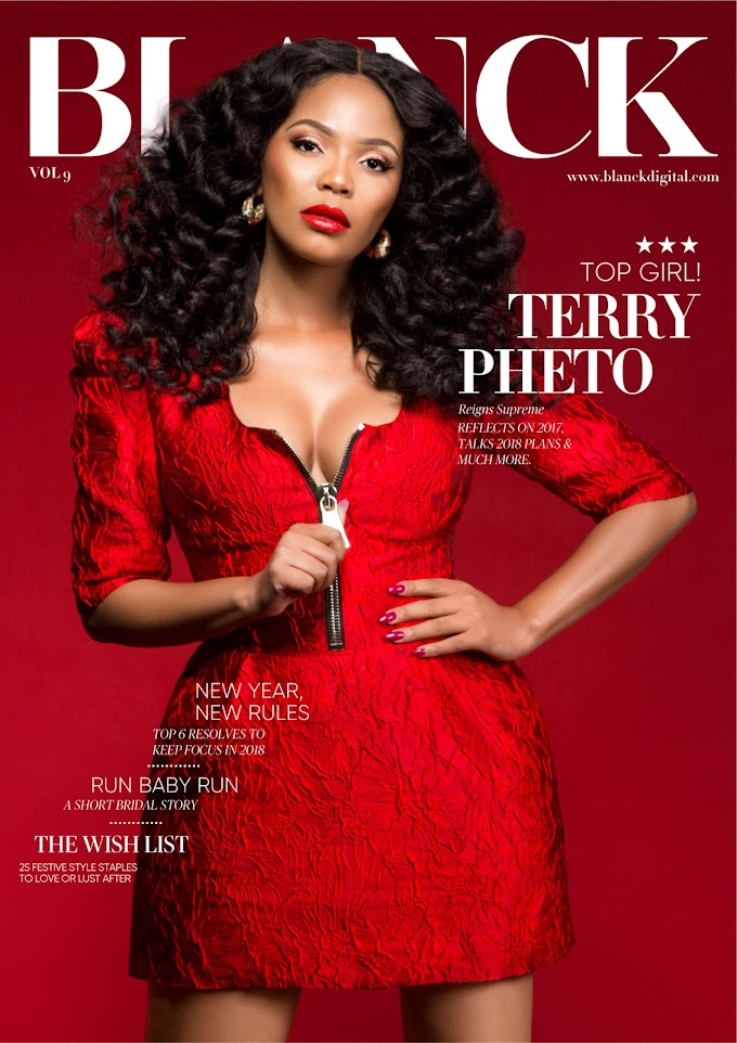 South African Actress Terry Pheto covers Blanck Magazine's Latest Issue