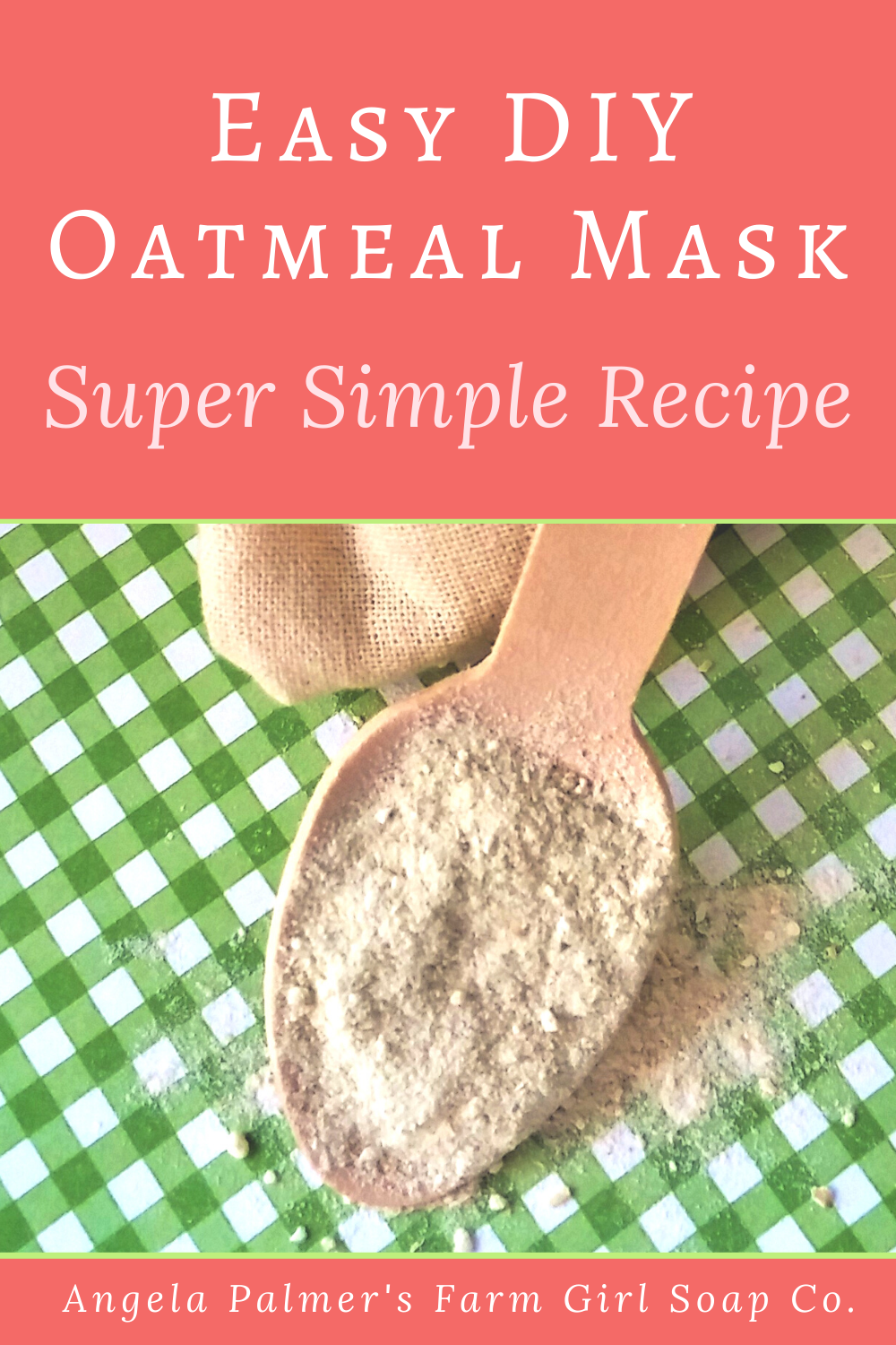 This super easy DIY oatmeal face mask recipe also doubles as a gentle facial scrub. You can make this facial mask in just minutes with simple pantry ingredients. Perfect for all skin types!