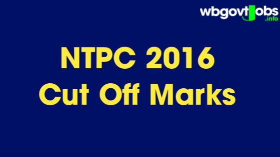 RRB NTPC 2016 Preliminary Cut Off Marks