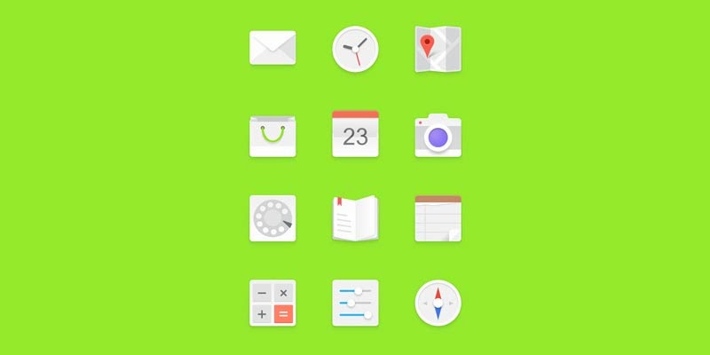 Light Android Icon Set