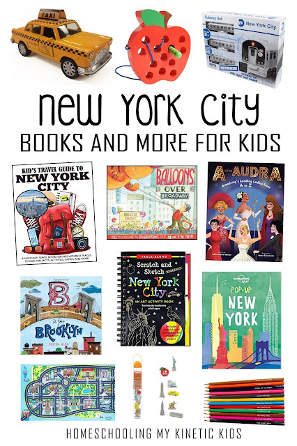 Toys, books, and more for learning about New York City in your homeschool or classroom.