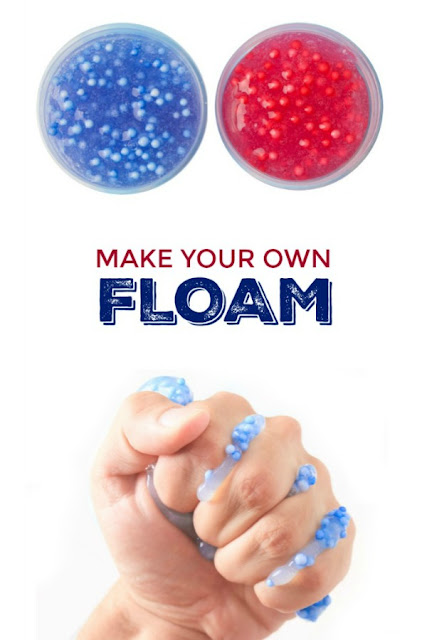 MAKE FLOAM!  (easy recipe) Mold-able play slime for kids. #floamslime #slimerecipe #slime #slimerecipeeasy #floamrecipe