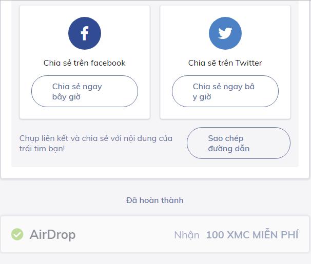 Mingo airdrop 100 tokens XMC