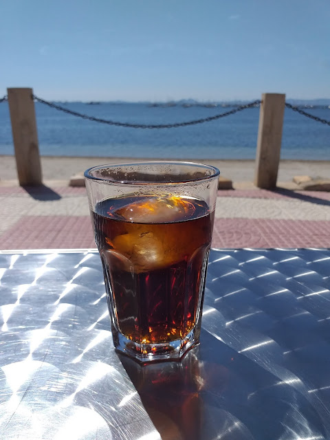 Diet coke by the sea in Lo Pagan