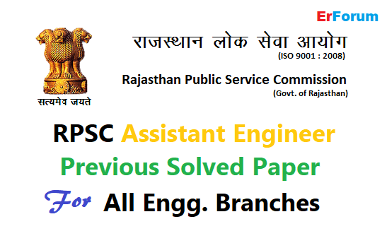 Pdf Rpsc Assistant Engineer Previous Solved Paper For