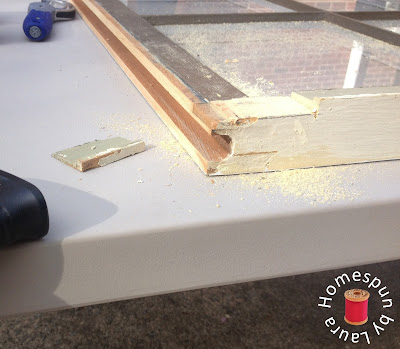 DIY repurposed window table construction process